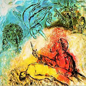 The sacrifice of Isaac by Marc Chagall